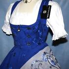 Dirndl Oktoberfest German SHORT Party Dress EMBROIDERY .. 3 Pieces COMPLETE SET