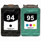 2-PACK Remanufactured Black / Color Ink Cartridge replacements for HP 94 / HP 95