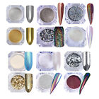 Holographic Chameleon Nail Powder Flakies Mirror Laser Glitter Sequins Dust DIY