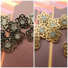 Celtic metal buttons with glitter centre  gunmetal or gold colours per 3 buttons