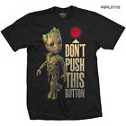 Official T Shirt Marvel Avengers Guardians Of The Galaxy BUTTON Baby Groot