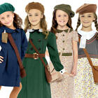 Wartime Girls Fancy Dress History 30s 40s Book Day Week Kids Childs Costumes New