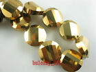 Wholesale 10pcs 14mm Faceted Twist Tile Glass Crystal Loose Spacer Beads DIY