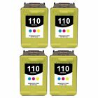 4-PACK Remanufactured Color Inkjet Cartridge replacement for HP 110 (CB304AN)