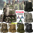 55L Unisex Molle Outdoor Military Tactical Bag Camping Hiking Trekking Backpack