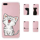 Fashion Lady Silicone Soft TPU Cat Print Phone Case Cover For iPhone7 Plus /8 /X