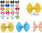 NEW BUY 4pc GET 2pc FREE 7cm Hair Bow Twist Alligator Clips Grosgrain Ribbon Eco