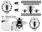 Внешний вид - Vintage Image French Honey Bees Furniture Transfers Waterslide Decals MIS644