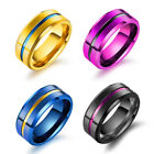 Stainless Steel Engagement Ring Wedding Band Men's Women's Valentine's Day gift