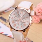 Hot Women's Faux Leather Roman Numerals Analog Quartz Wrist Watch Gifts