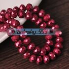 100pcs 6mm Rondelle Faceted Crystal Glass Charms Loose Spacer Beads DIY Findings
