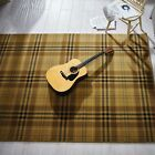 Traditional Beige Tartan Living Room Rugs Soft Small Large Contemporary Area Rug