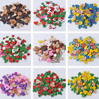 1 Bag 40g Assorted Shape Colorful Wood Buttons Sewing Craft DIY Glam NEW