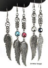 Angel Wings Long Charm Earrings Drop Dangle Chain mail Women's Fashion Jewelry