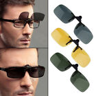 Unisex Driving Night Vision Clip-on Flip-up Lens Sunglasses Glasses Cool Eyewear