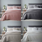 Catherine Lansfield Stone Wash Diagonal Quilted Bedspread, 220 x 220 Cm