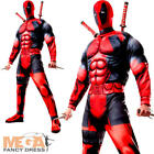 Deluxe Deadpool Mens Fancy Dress Marvel Comic Superhero Movie Adults Costume New