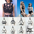 Sexy Women's Black Cage Bra Body Harness Bra Elastic Strappy Bra Gothic Costume