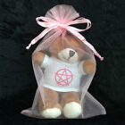 Pagan Wiccan Pentacle Teddy Bear New Baby Girl Boy Naming Wiccaning Shower Gift