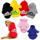 Winter Casual Adidog Pet Dog Clothes Warm Hoodie Coat Jacket Clothing For Dogs J