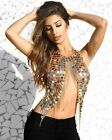 Punk sexy Street beat personality body clothing chain Hand sequined body chain