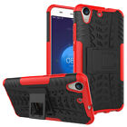 Shockproof Rugged Hybrid Kickstand Rubber Case Cover For Huawei Mobile Phones B