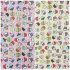 Mini Cupcake, lemon or pink 100% cotton fabric sold per fat quarter/ half metre