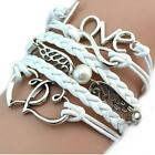 Women Vintage Style Love Infinity Friendship Multilayer Synthetic DZ88 02