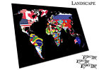Map of the world countries made from nation flags print Poster - X1616