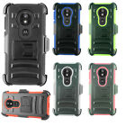 Motorola Moto E5 Play COMBO Holster with Hard HYBRID KICK STAND Rubber Case