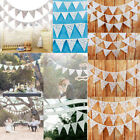 Romantic Lace Banner Flags Garland Wedding Birthday Party Hanging Home Decor