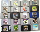 Authentic Original Nintendo N64 Game Cartidges Lot ~ Hawk's Gex Scooby Turok +++