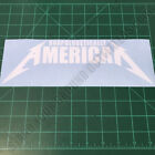 UNAPOLOGETICALLY AMERICAN Metallica Patriotic Second Amendment 2A Decal Sticker