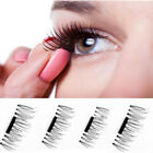 4PC 3D Magnetic False Eyelashes No GLUE Thinner Magnet and Strong Magnetic Black