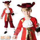 Captain Hook Boy's Fancy Dress Book Week Pirate Kids Child Costume Outfit + Hat