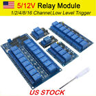 USA 5V/12V 1-2-4-8-16 Channel Relay Module Arduino Raspberry PI ARM AVR DSP PIC