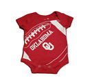 Oklahoma Sooners Baby Football Creeper Bodysuit - Red