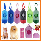 Pet Dog Garbage Clean up Bags Waste Carrier Holder Dispenser + Poop Bags Set