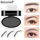 9 Colors Natural Stamp Eyebrow Eyebrow Powder + 2 X Sponge Stencils Tool Beauty