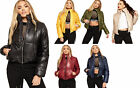 Womens Long Sleeve Quilted Padded Zip Pocket Ladies New Puffer Jacket 8-14