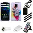 For LG Optimus G2X P990 Design Snap-On Hard Case Phone Cover Combo