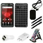 For Motorola Droid Bionic XT875 TPU Rubber Skin Flexible Case Phone Cover Combo