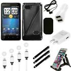 For HTC Vivid / Holiday Aluminum Armor Cosmo Slim Hard Case Phone Cover Charger