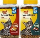 Meow Mix Irresistibles Soft Cat Treats w/ CHICKEN or SALMON