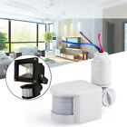 12M 180° Security PIR Infrared Motion Sensor Detector Wall LED Light Outdoor US