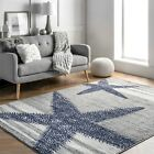 Kyпить nuLOOM Thomas Paul Modern Coastal Starfish Stripes Area Rug in Grey and Ivory на еВаy.соm
