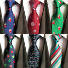 Men Tie Christmas Tree Animal Prinetd Necktie Snowmen Pattern Cravat Neck Ties