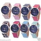 Fashion Women Girl's Watch Cat Pattern Leather Band Analog Quartz Wrist Watches image