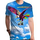 Epic Unicorg Corgi Dog like Unicorn riding flying on eagle Sublimated T-shirt