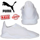 New Puma Mostro White Leather Mens Sports Casual Touch Fasten Trainer Shoes £80